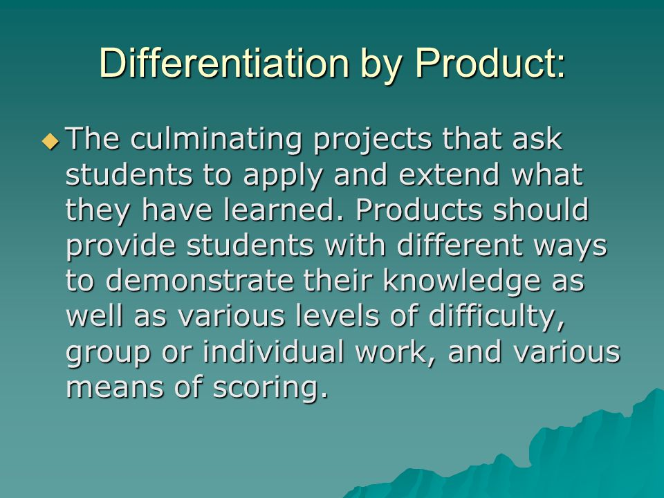 Differentiation by Product: