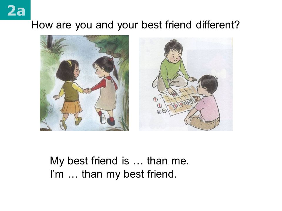 2a How are you and your best friend different
