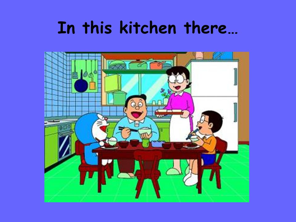 In this kitchen there…
