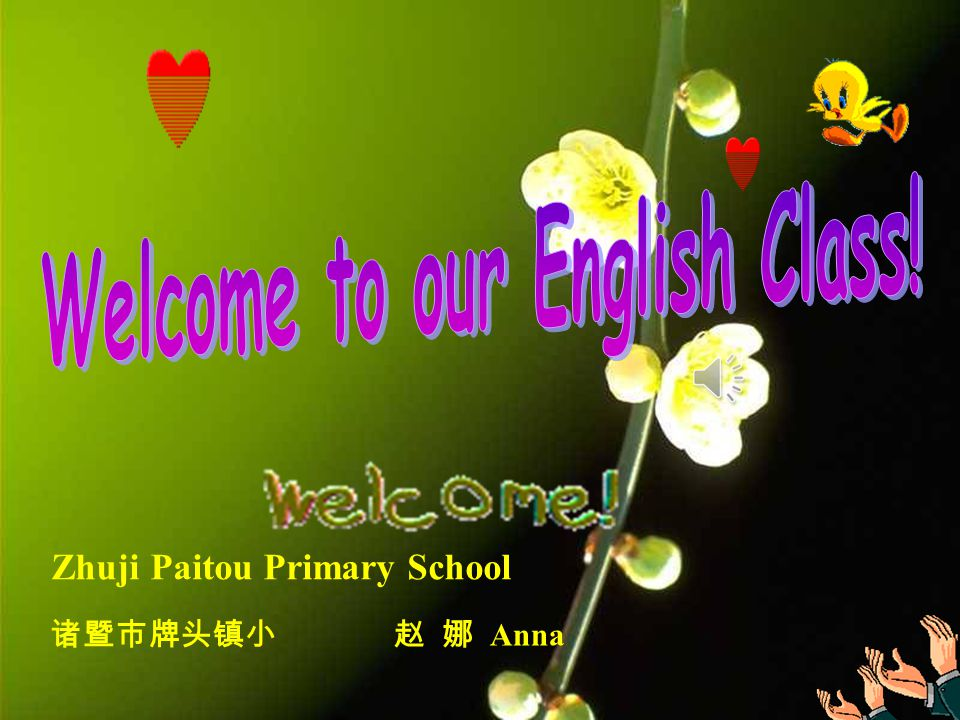 Welcome to our English Class!