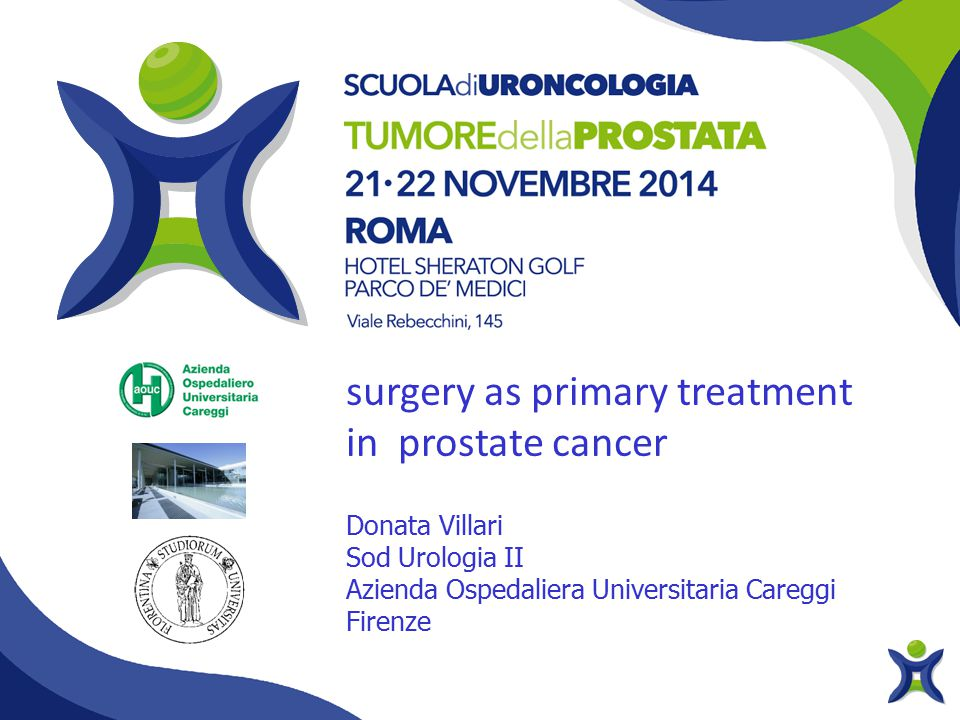surgery as primary treatment in prostate cancer