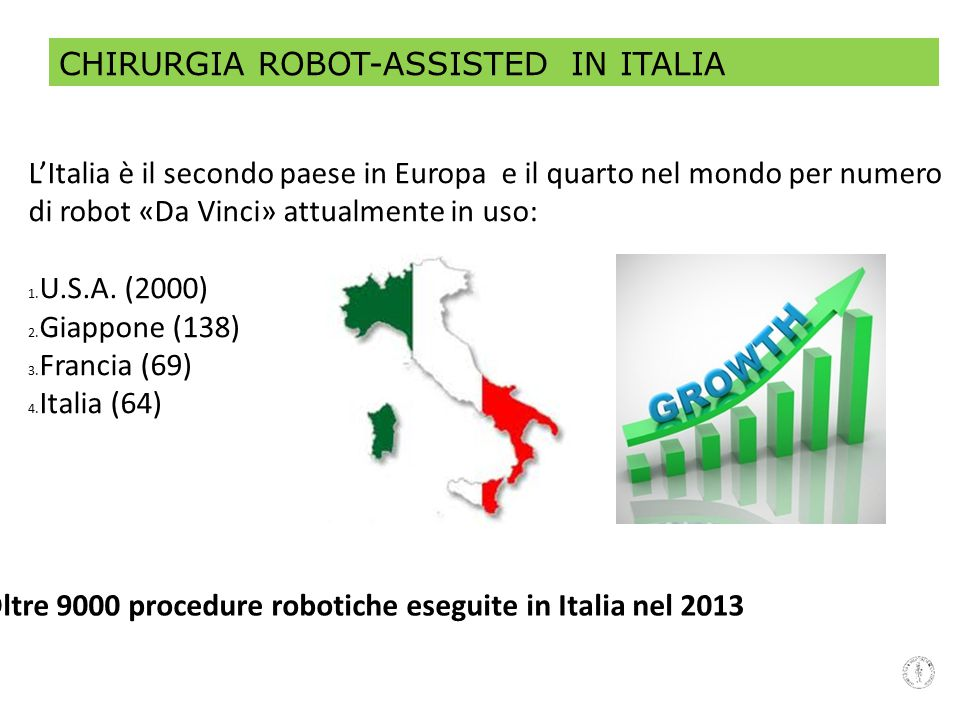 CHIRURGIA ROBOT-ASSISTED IN ITALIA