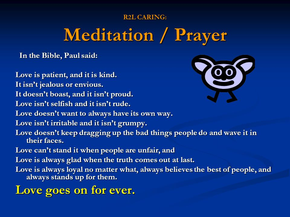 R2L CARING: Meditation / Prayer