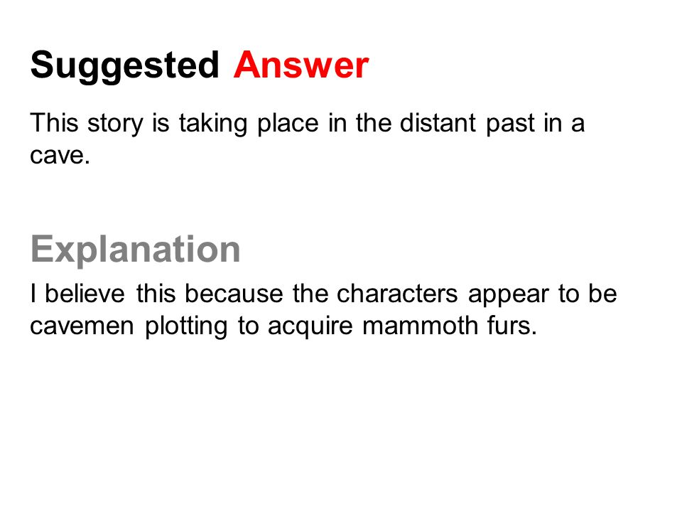 Suggested Answer Explanation