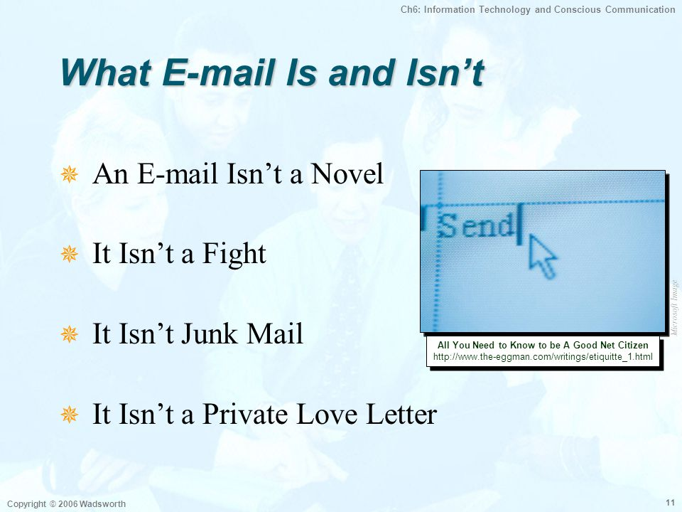 What E-mail Is and Isn't