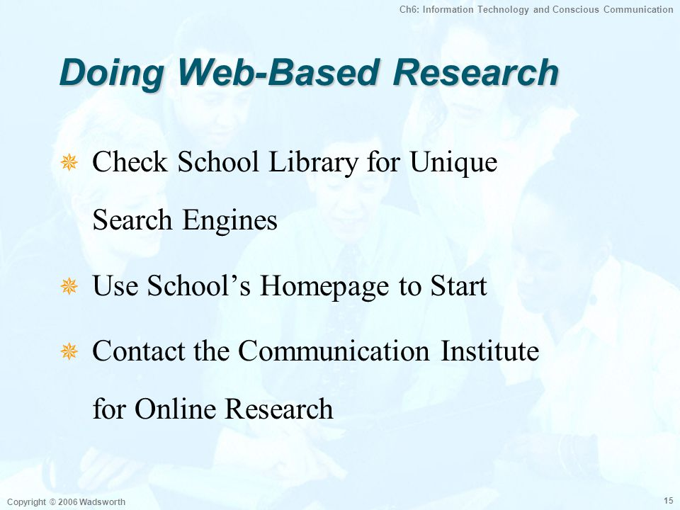 Doing Web-Based Research