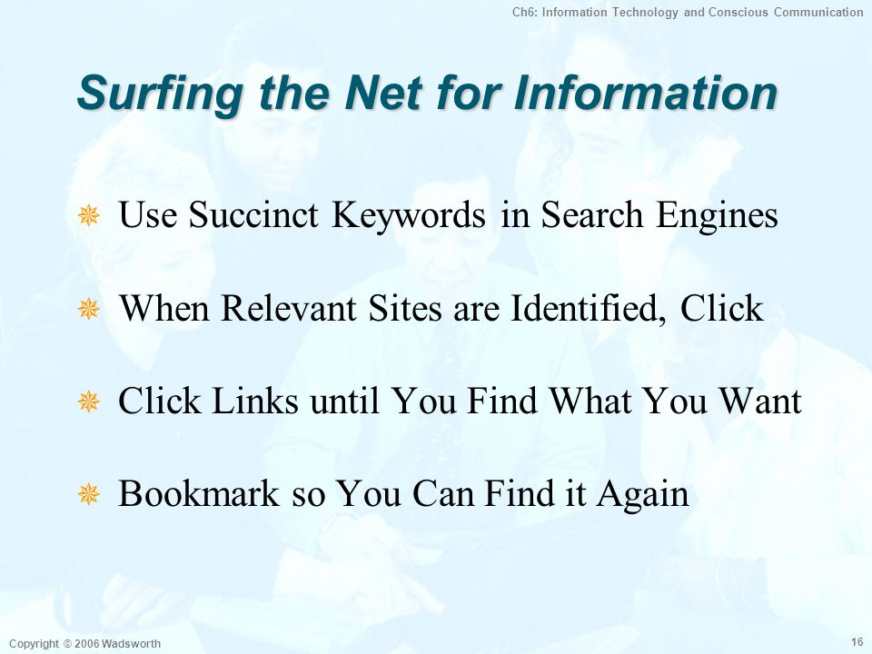 Surfing the Net for Information