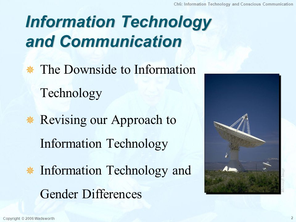 Information Technology and Communication