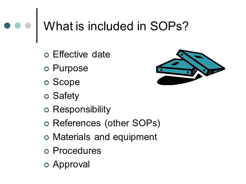 What is included in SOPs