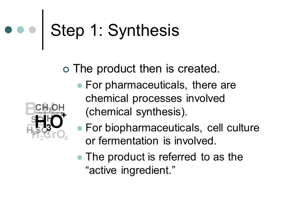 Step 1: Synthesis The product then is created.