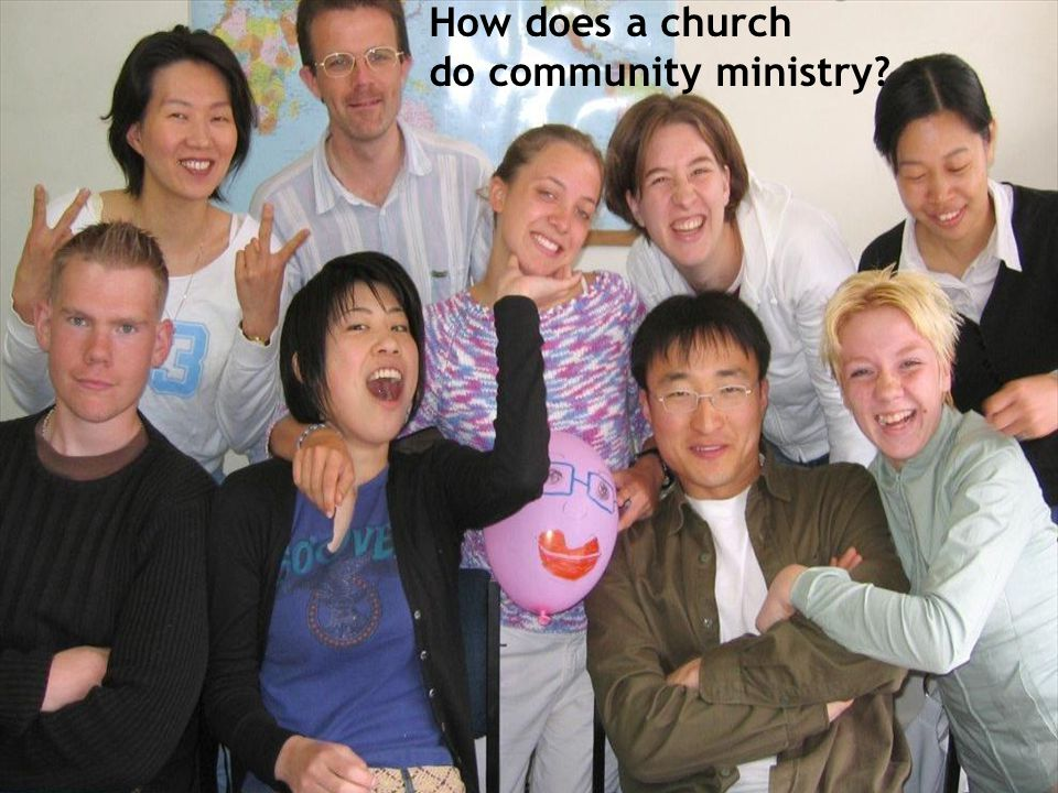 How does a church do community ministry