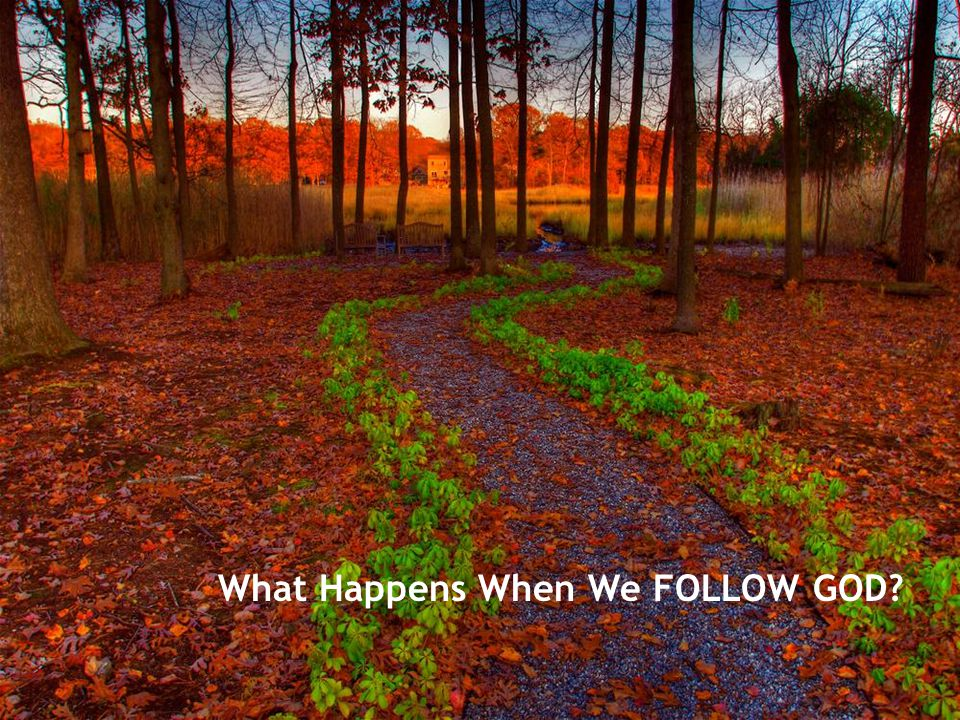 What Happens When We FOLLOW GOD