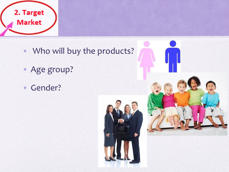 Who will buy the products
