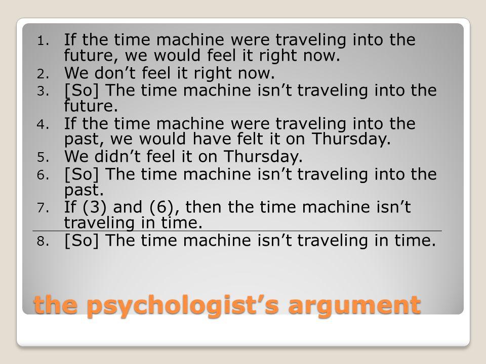 the psychologist's argument