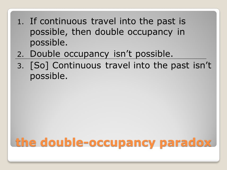 the double-occupancy paradox