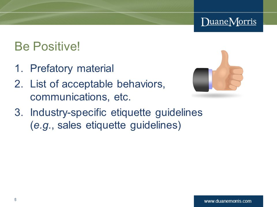 Be Positive! Prefatory material