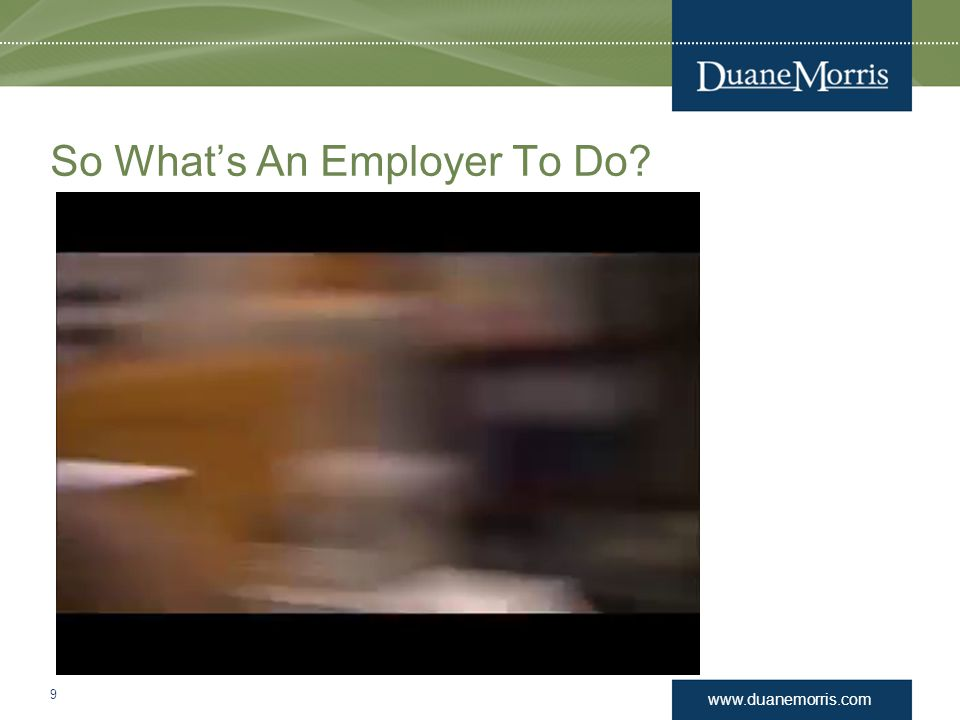So What's An Employer To Do