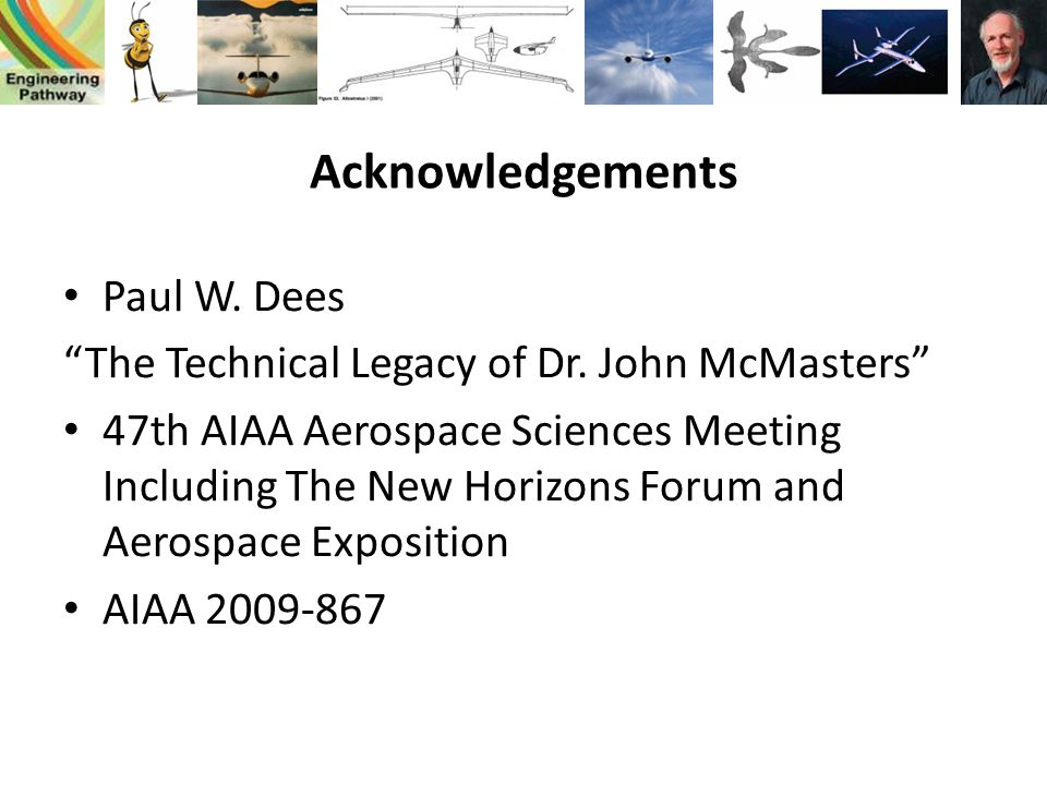 Acknowledgements Paul W. Dees