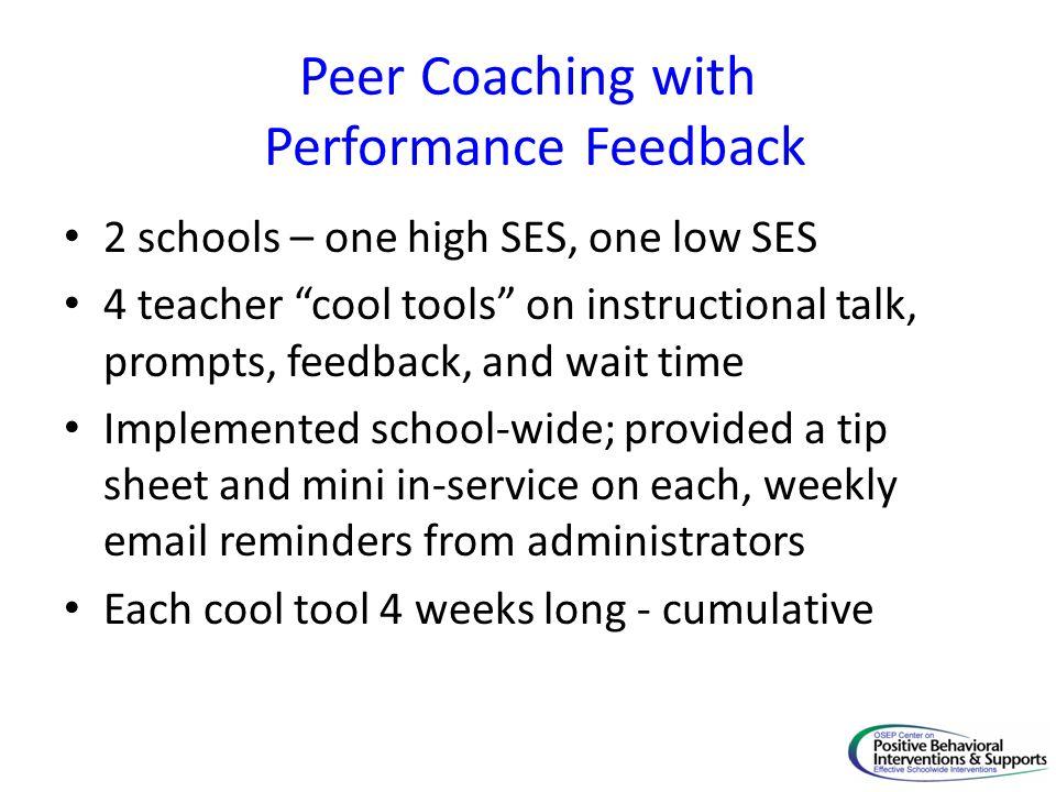 Peer Coaching with Performance Feedback