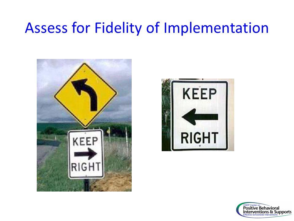 Assess for Fidelity of Implementation