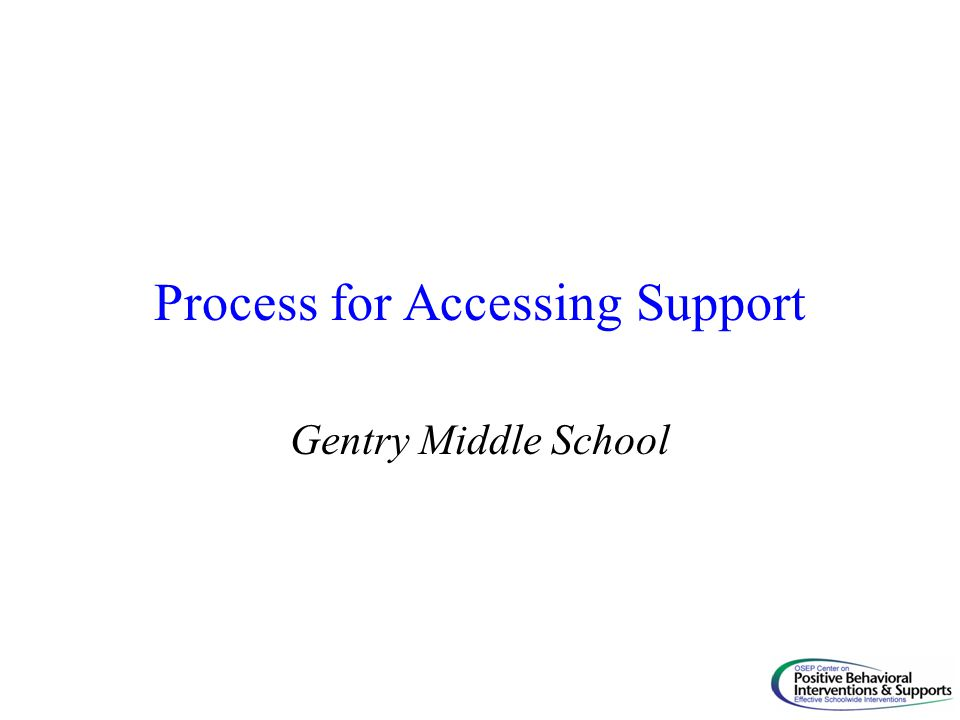 Process for Accessing Support