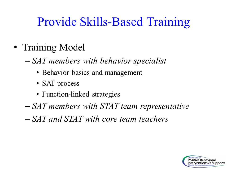 Provide Skills-Based Training