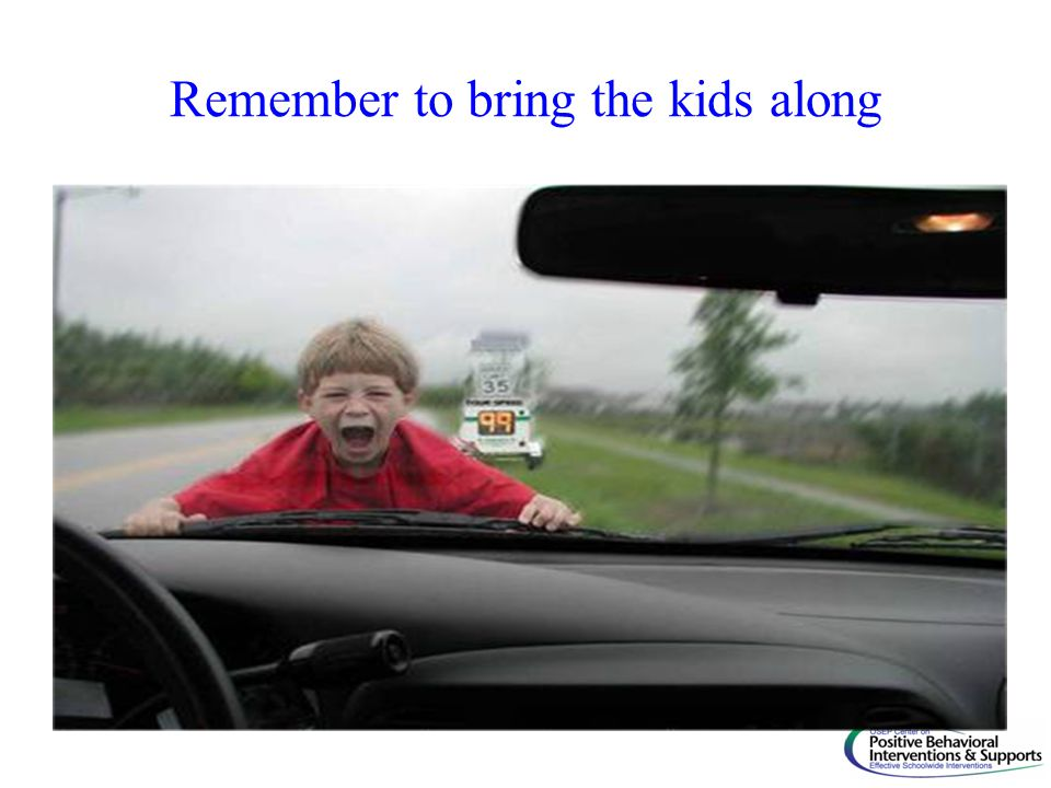 Remember to bring the kids along