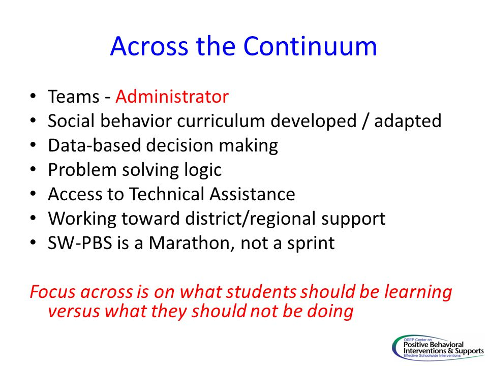 Across the Continuum Teams - Administrator