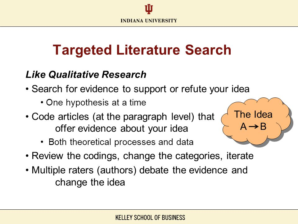Targeted Literature Search
