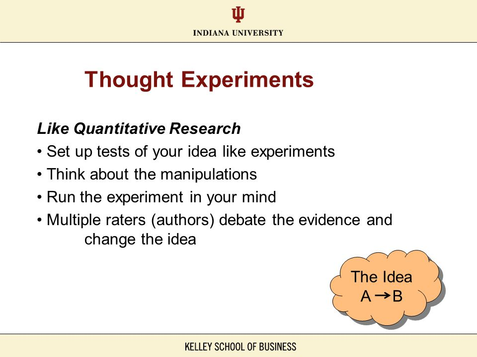 Thought Experiments Like Quantitative Research
