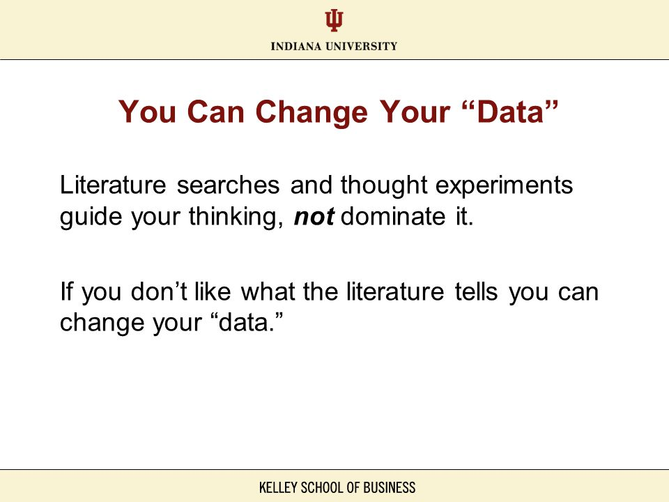 You Can Change Your Data