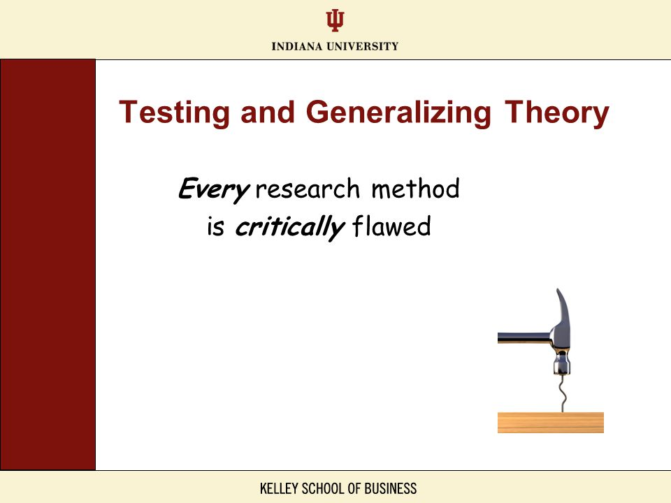 Testing and Generalizing Theory