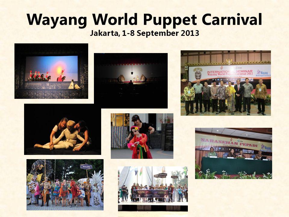 Wayang World Puppet Carnival Jakarta, 1-8 September 2013