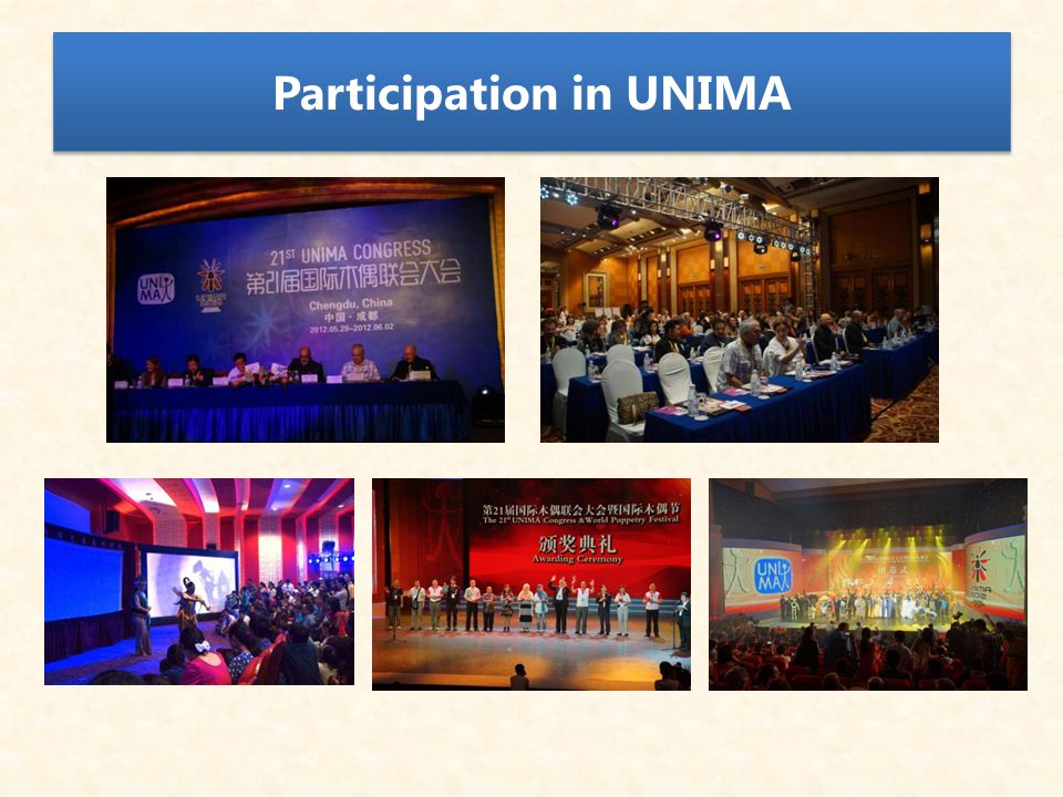 Participation in UNIMA