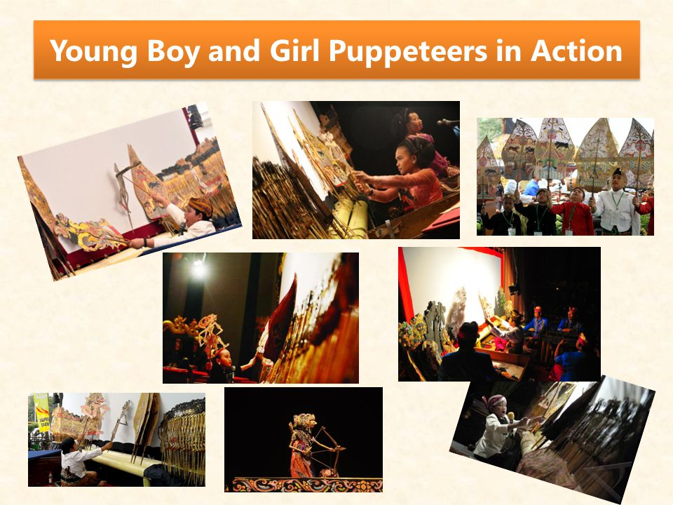 Young Boy and Girl Puppeteers in Action