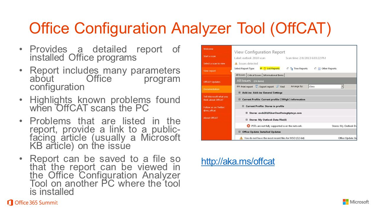 Office Configuration Analyzer Tool (OffCAT)