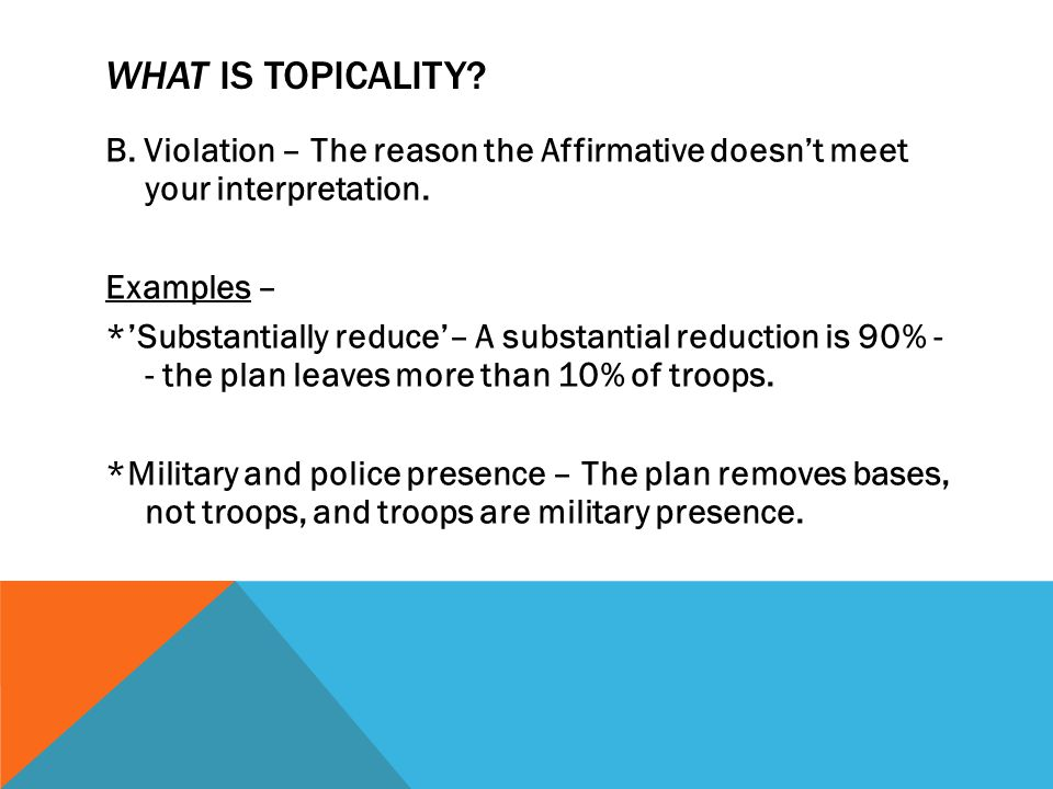 WHAT IS TOPICALITY