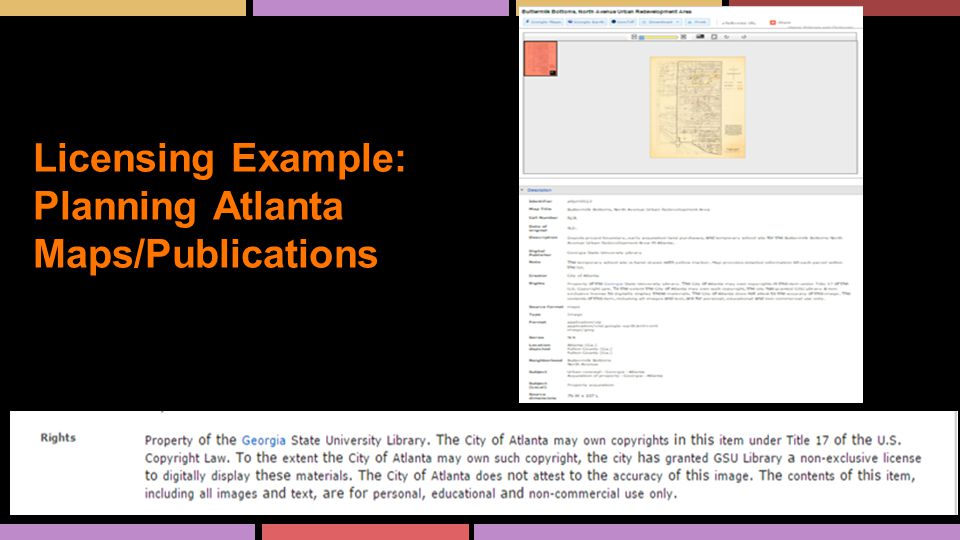 Licensing Example: Planning Atlanta Maps/Publications