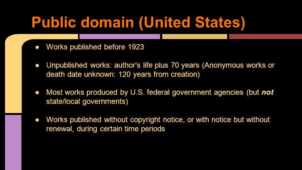 Public domain (United States)
