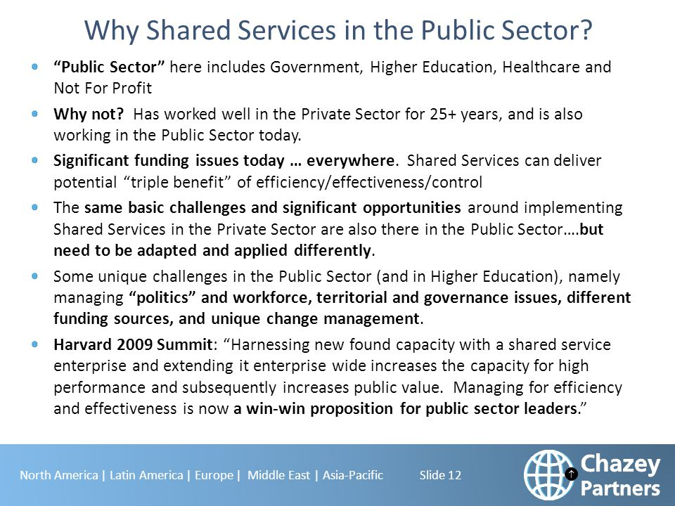 Why Shared Services in the Public Sector