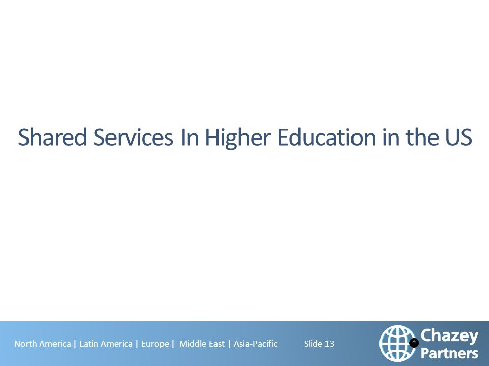 Shared Services In Higher Education in the US