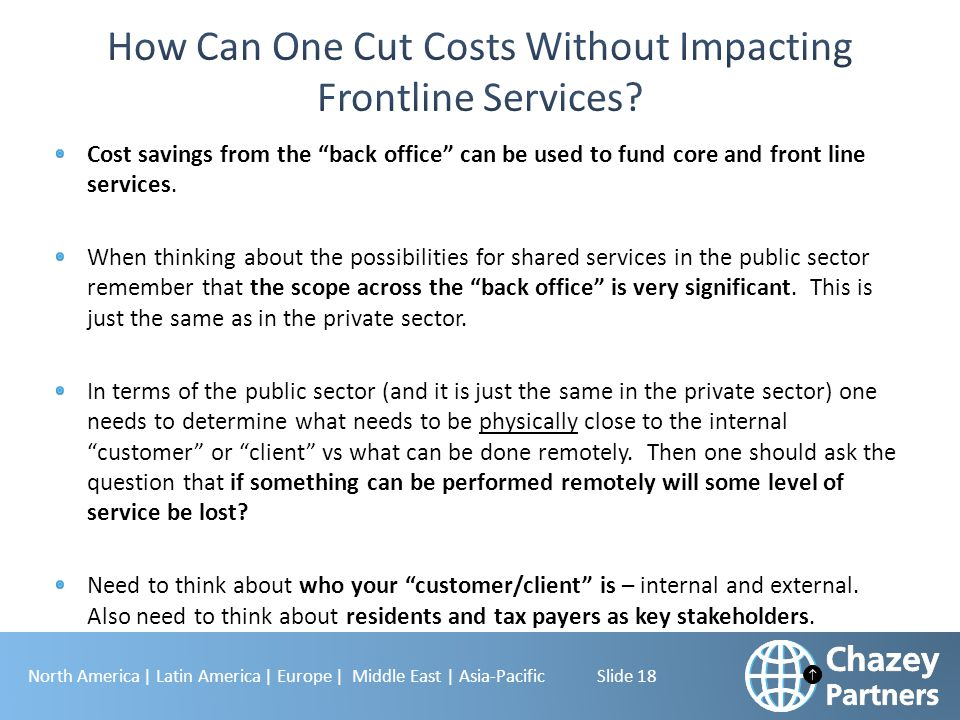 How Can One Cut Costs Without Impacting Frontline Services