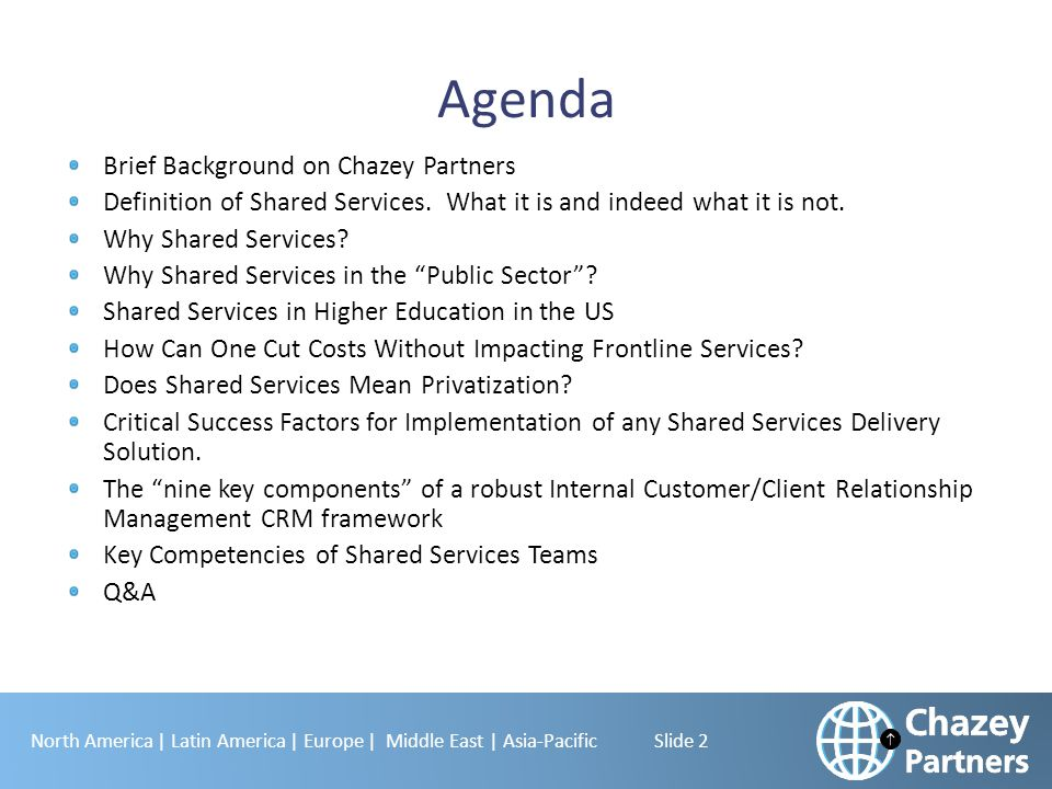 Agenda Brief Background on Chazey Partners