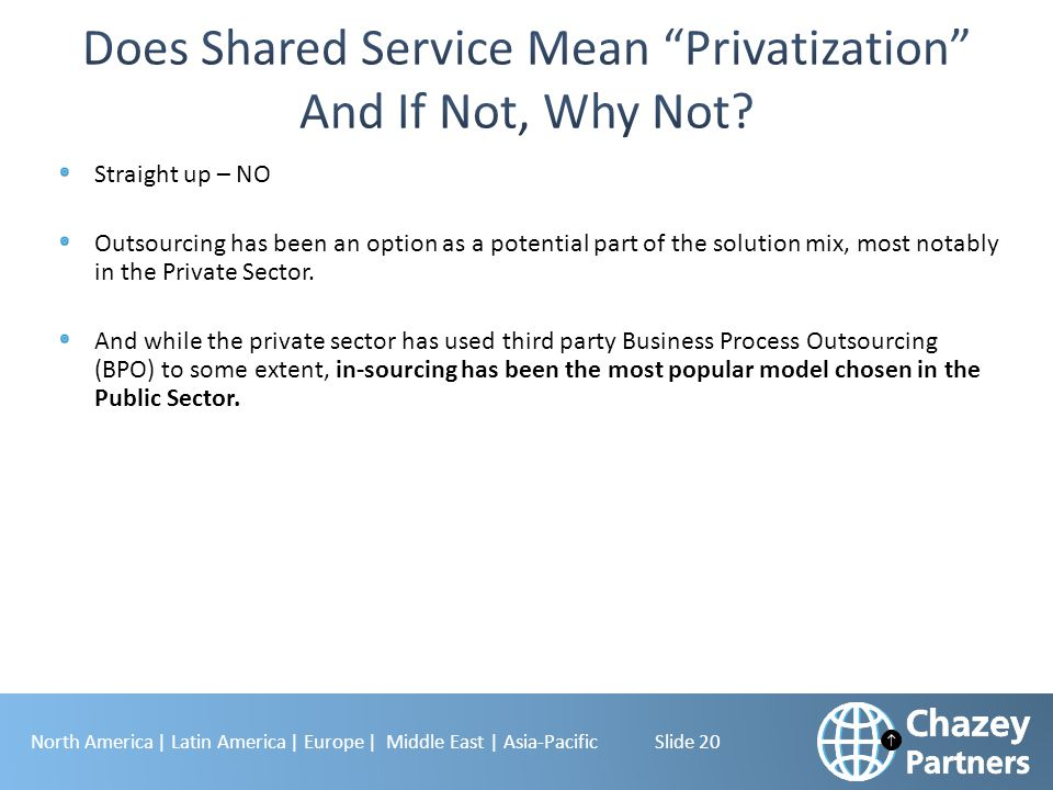 Does Shared Service Mean Privatization And If Not, Why Not