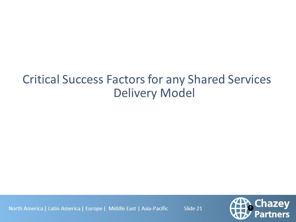Critical Success Factors for any Shared Services Delivery Model
