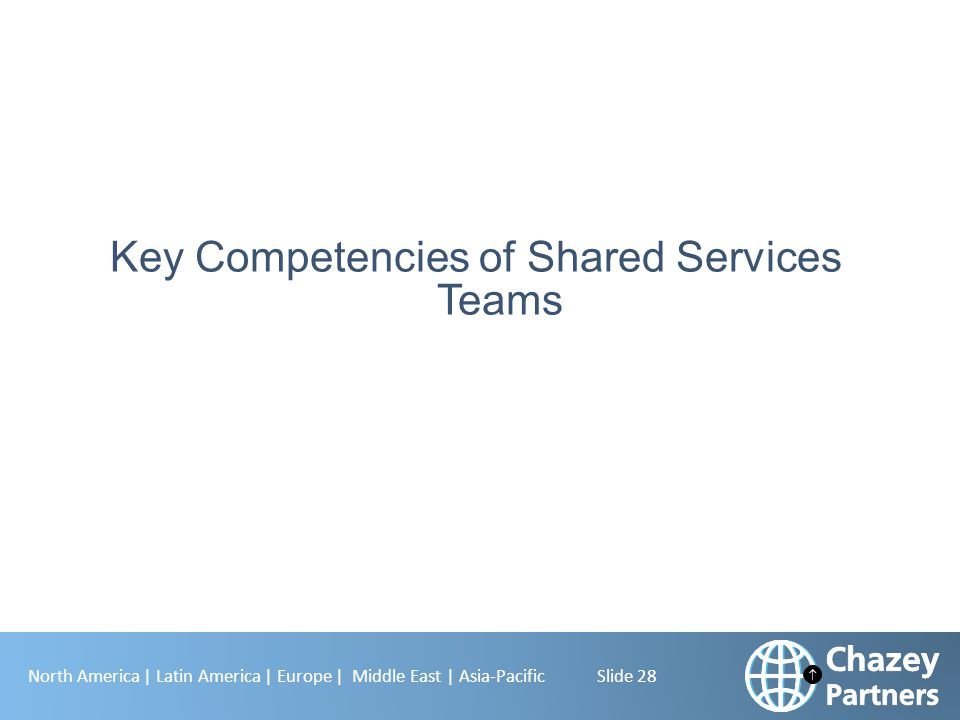 Key Competencies of Shared Services Teams