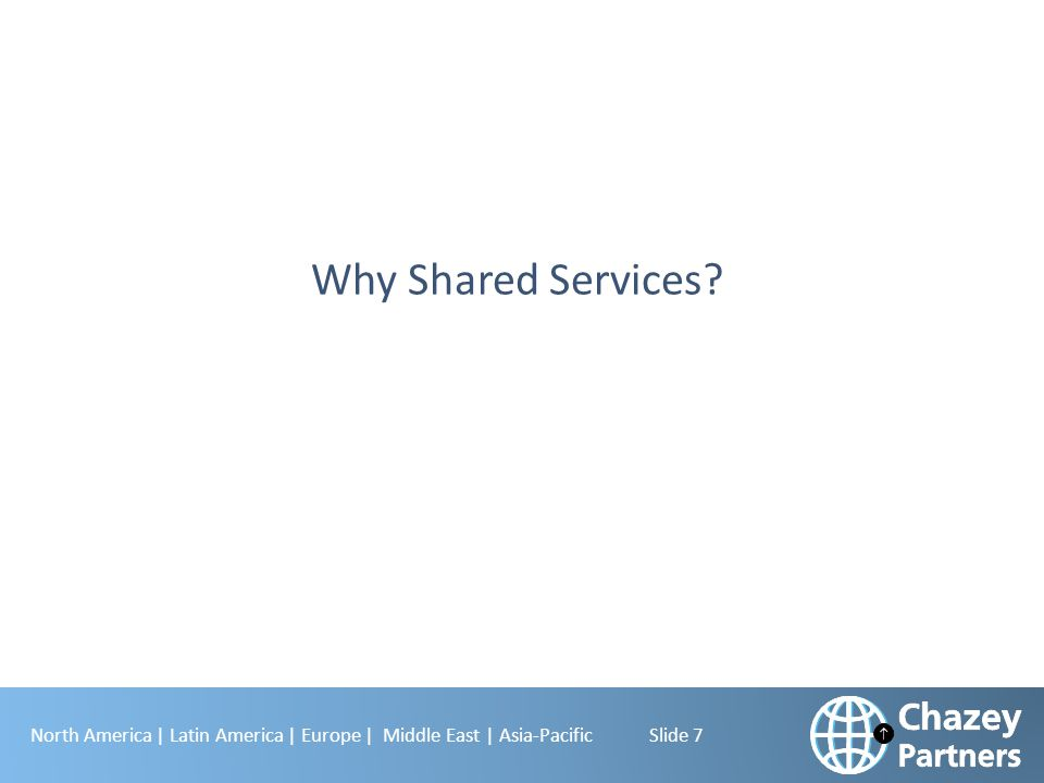 Why Shared Services