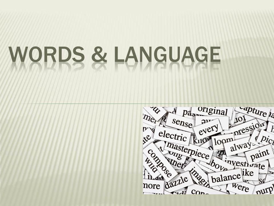 Words & Language