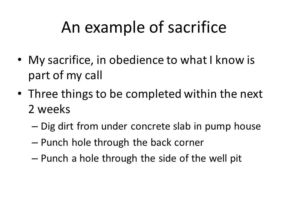 An example of sacrifice