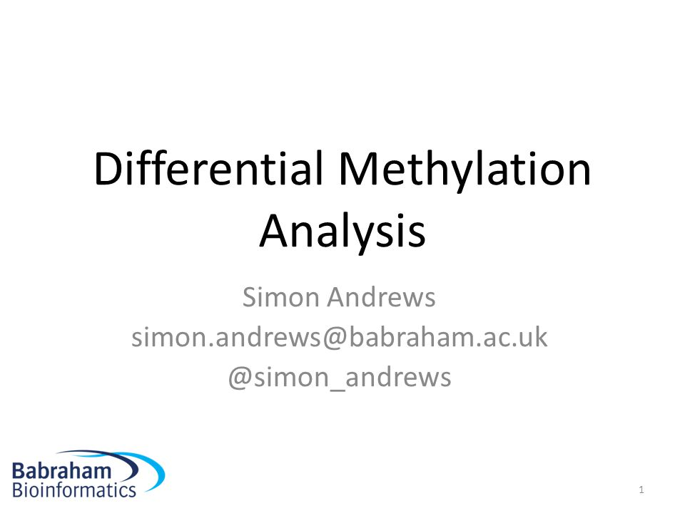Differential Methylation Analysis